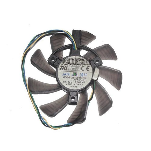 EVERFLOW T129215SU 12V 0.5A 4 wires 4 pins VGA Fan INNOVISION GTX460 UNIKA GTX460 DDR5 graphics card cooler