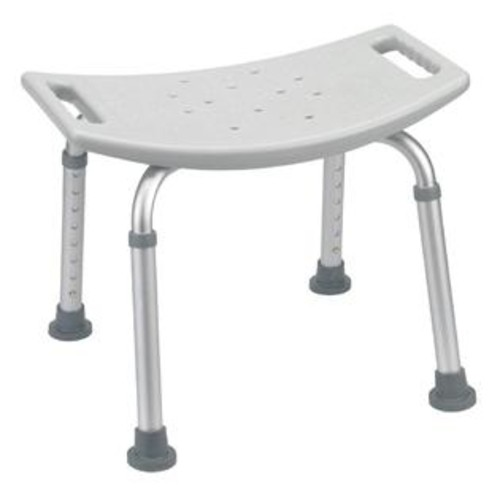 Drive Medical Bathroom Safety Shower Tub Bench Chair in Gray