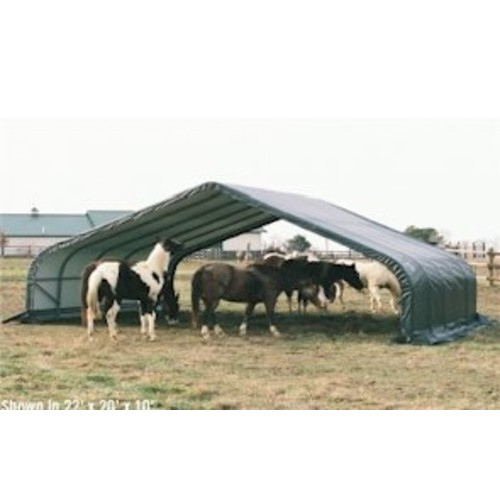 ShelterLogic Peak Style Run-In Shelter, Green, 22 x 24 x 12 ft.