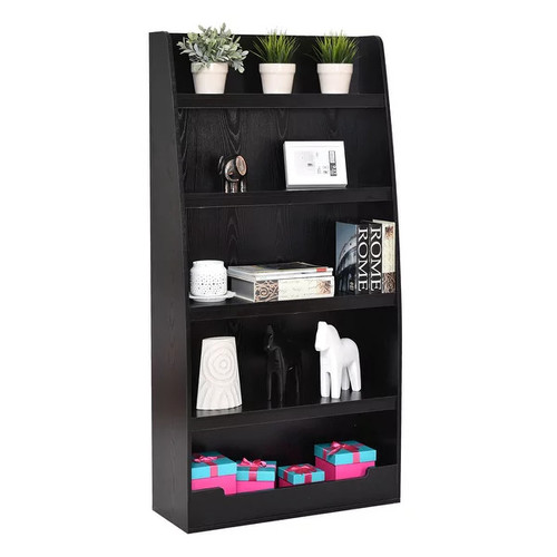 Costway 5 Layers Bookcases Bookshelf Shelves Storage Display Home Office Furniture Black