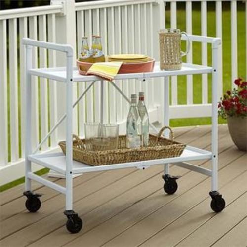 Cosco SMARTFOLD Folding Serving Bar Cart in White