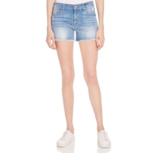 7 FOR ALL MANKIND Cutoff Shorts In Light Wash