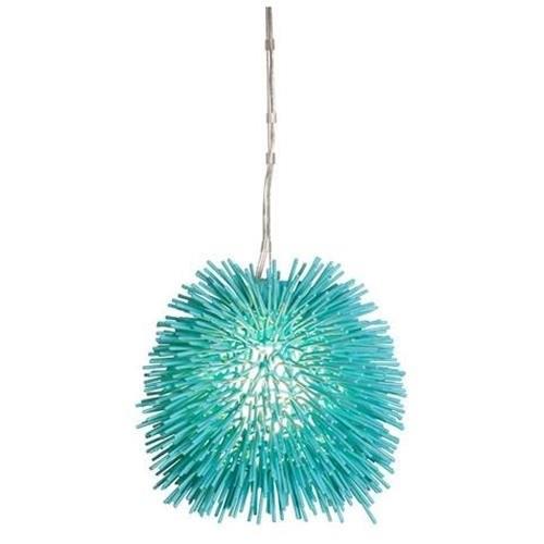 Varaluz Urchin Aqua Velvet Mini Pendant - One Light Aqua Velvet