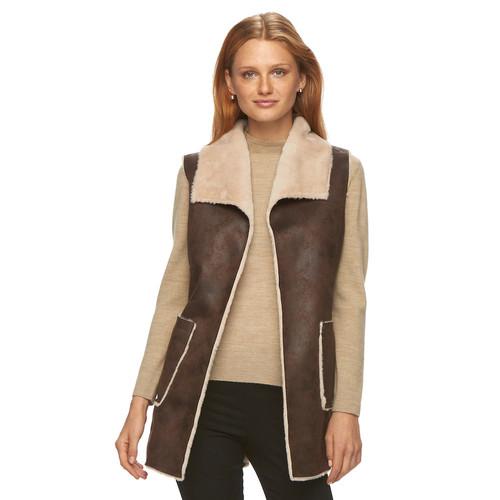 Women's Weathercast Faux-Shearling Vest