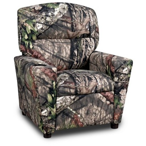 Mossy Oak Kid's Recliner with Cupholder - Country Camouflage
