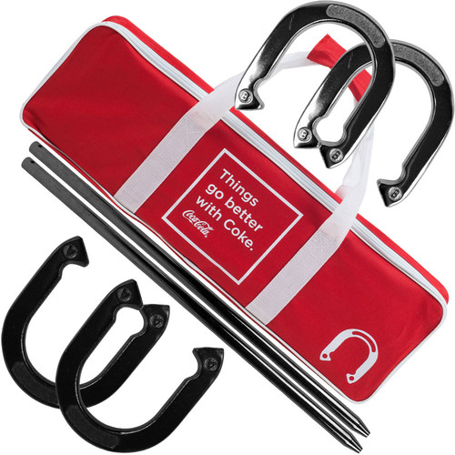 Trademark Global Coca Cola Horseshoe Set with Carry Case