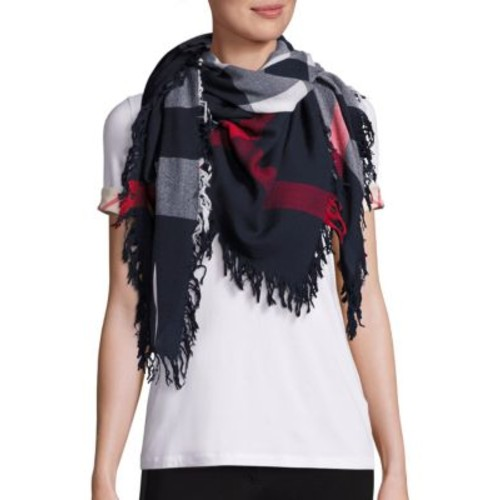 BURBERRY Colorblock Check Wool Scarf