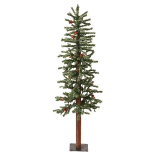 Vickerman 4Ft. Frosted 242 Tips Christmas Tree 150 Clear Dura-Lit
