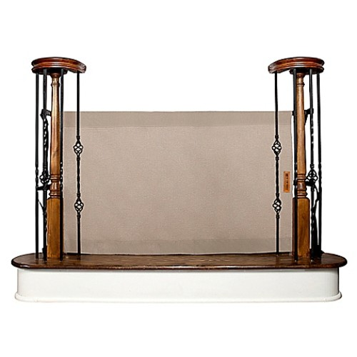 The Stair Barrier 36-Inch to 42-Inch Banister to Banister Gate in Khaki