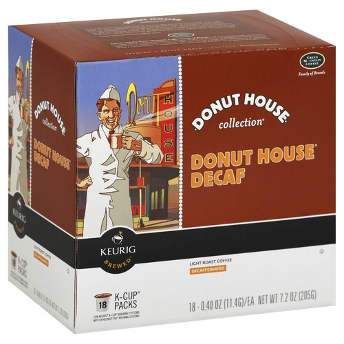 Donut House Collection Decaf Extra Bold Keurig Single-Serve K-Cup Pods, Light Roast Coffee, 18 Count