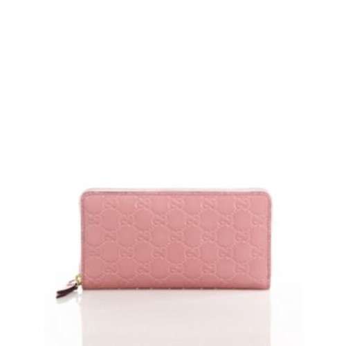 GUCCI Linea Gg Leather Zip Wallet