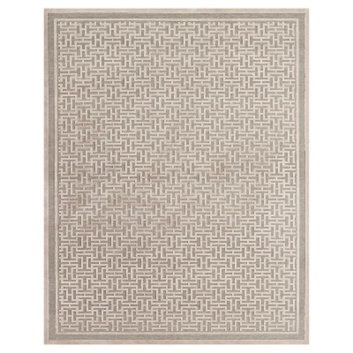 Saphir Zam Power-Loomed Cotton Viscose Accent Rug - Pewter/Light Gray (2'2\