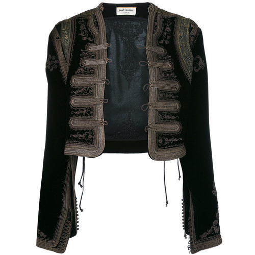 SAINT LAURENT Hand Stitched Embroidered Jacket