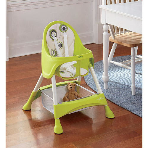Baby Diego 2-in-1 Convertible High Chair - Green