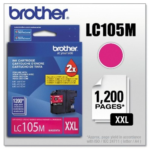 Brother LC105M Magenta Ink Cartridge, Super High Yield