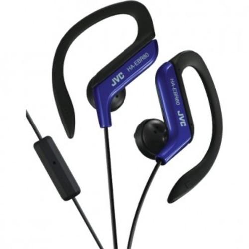 JVC HAEBR80A Sports Clip Headphones (Blue): Home Audio & Theater