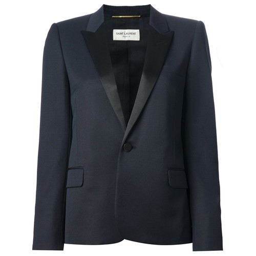 SAINT LAURENT Contrast Lapel Blazer