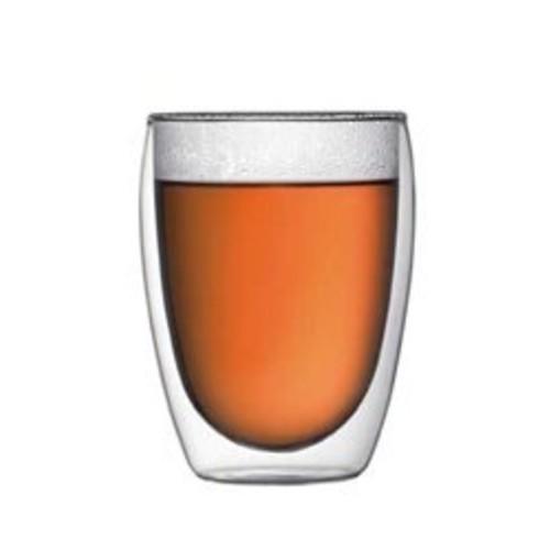 Bodum PAVINA Coffee Mug, Double-Wall Insulate Glass Mug, Clear, 12 Ounces Each (Set of 2)