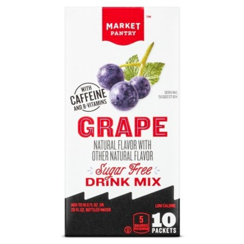 Grape Sugar Free Energy Drink Mix 10 Count - Market Pantry