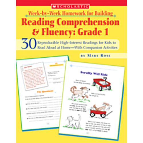 Scholastic Week-by-Week Homework For Building Reading Comprehension & Fluency Grade 1