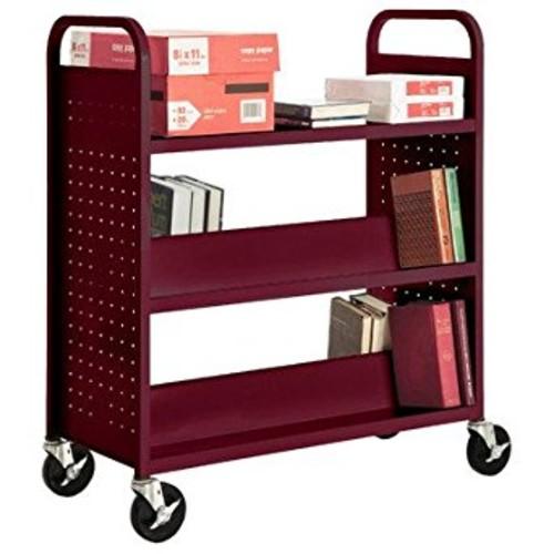 Sandusky Lee SFV336-03 Combination Top Flat Shelf Book Truck, 19