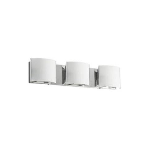 Dainolite Silver Steel, Glass 3-light Vanity Fixture
