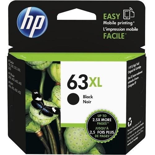 HP Inc. 63XL High Yield Black Original Ink Cartridge (F6U64AN#140)