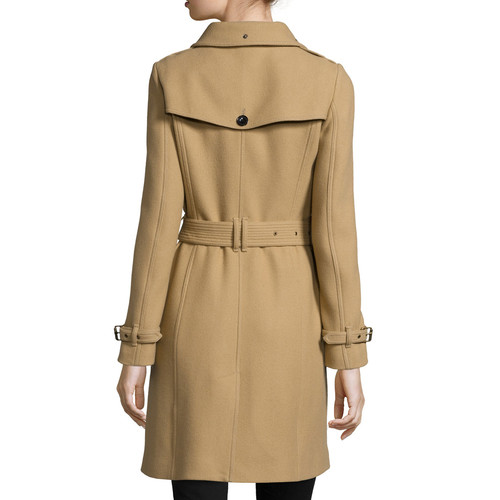 BURBERRY BRIT Rushfield Single-Breasted Trench Coat, Camel