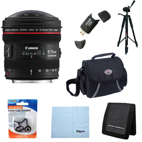 Canon EF 8-15mm f/4L Fisheye USM Ultra-Wide Zoom Lens Exclusive Pro Kit