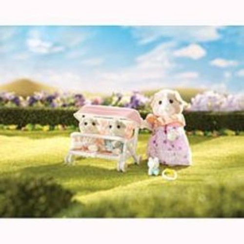 International Playthings Calico Critters Patty And Paden's Double Stroller Set