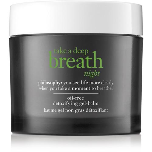 Online Only Take A Deep Breath Night Oil-Free Detoxifying Gel-Balm