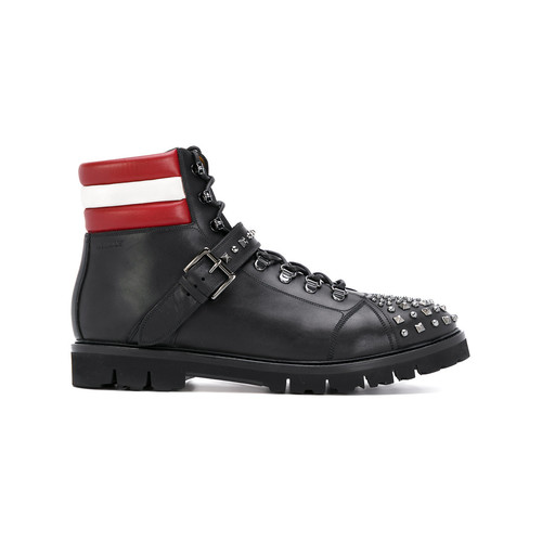 studded Champions combat boots