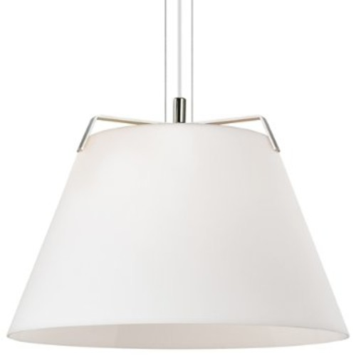Devin Pendant [Light Option : Incandescent; Finish : Polished Nickel / White]