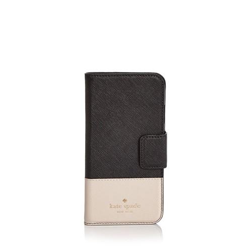 Wrap Folio Color Block Leather iPhone 7/8 Case