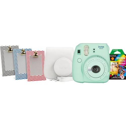 Fujifilm - instax mini 9 Instant Film Camera Bundle - Mint Green