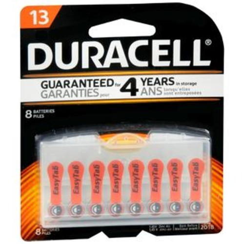 Duracell Hearing Aid Batteries 13, 8 Count