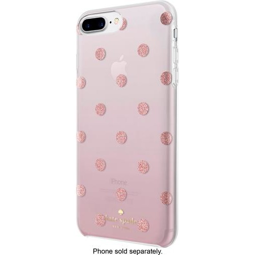 kate spade new york - Case for Apple iPhone 6 Plus, 6s Plus, 7 Plus and 8 Plus - Glitter Dot Foxglove Ombre/Rose Gold Foil