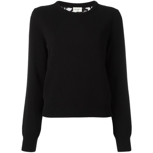 SAINT LAURENT Lace Back Knitted Jumper