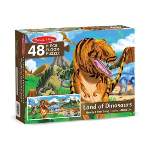 Melissa & Doug Land of Dinosaurs Floor Puzzle (48pc, 4 feet long)
