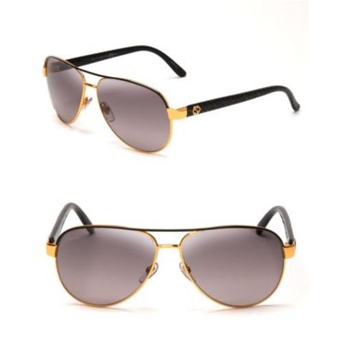 GUCCI Glitter Twilight Side Aviator Sunglasses