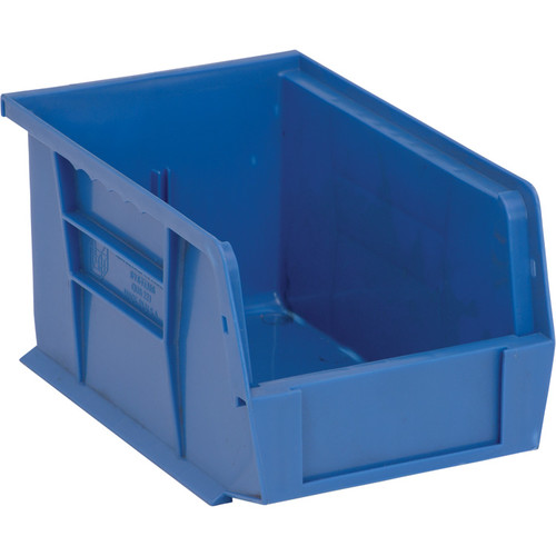 Quantum Storage Heavy-Duty Ultra Stacking Bins  9 1/4in. x 6in. x 5in. Size, Blue, Carton of 12