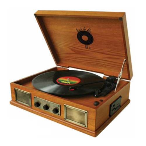 MGear 'Back To The 50's' 3-speed Wooden Turntable