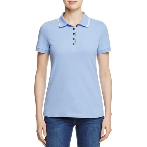 BURBERRY Vouga Lace Trim Polo Shirt