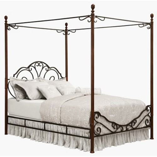 Sereno Metal Canopy Bed King - Homelegance