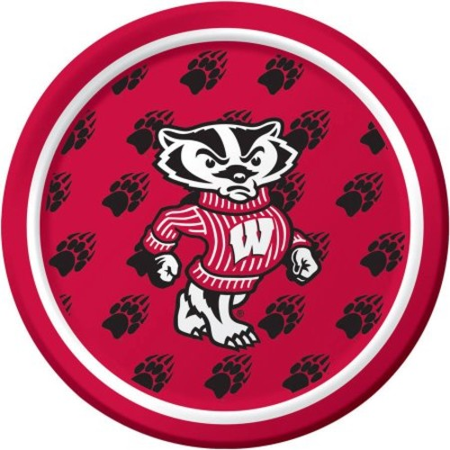 Wisconsin Badgers Dessert Plates, 8-Pack