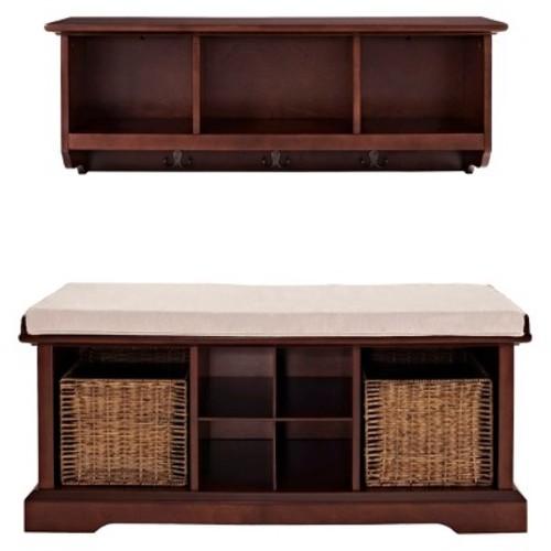 2 Piece Brennan Entryway Bench & Shelf Set - Crosley