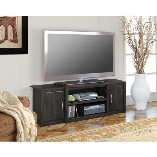 Dorel Home Furnishings Cohen Dark Russett Cherry TV Stand with Media Storage