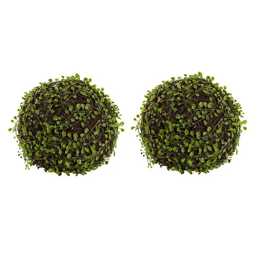 Nearly Natural 9 in. Mohlenbechia Ball - Set of 2