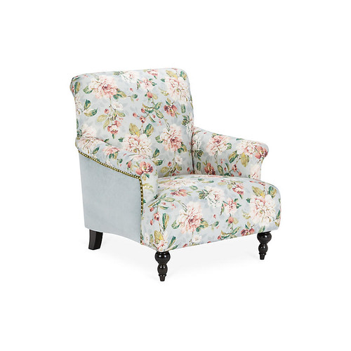 Grayson Club Chair, Light Blue Linen