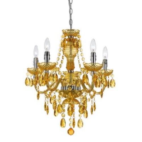 AF Lighting Fulton 5-Light Gold Chandelier